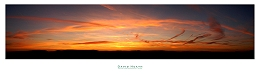 Sunset over Clitheroe from Pendleton Moor - Lancashire - PAN027