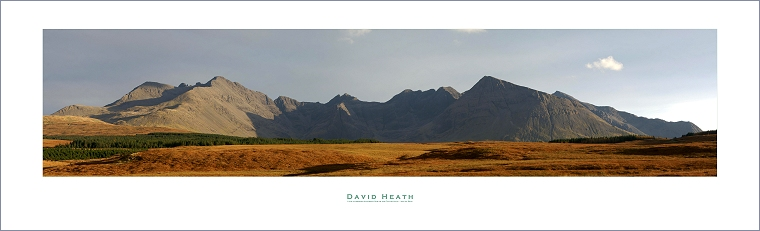 Late afternoon Autumnal Sun on the Cuillin Hills - Isle of Skye - PAN054